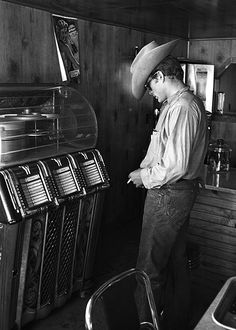 James Dean photographed by Richard Miller in Texas, 1955.