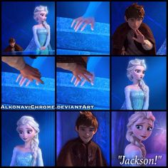 A Surprising Visit - Jelsa by AlkonaviChrome Frozen Love, Frozen Heart, Elsa And Hans, Sailor Princess, Disney Princess, Jack Frost And Elsa, Pocket Princesses, Disney Animated Films, Media Quotes