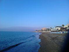 Playa de Huelin en Málaga, Andalucía
