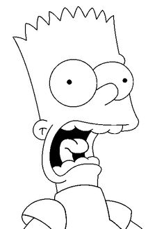 Bart Simpsons drawings for coloring- Dessins de Bart Simpson Simpsons Drawings, Easy Cartoon Drawings, Simpsons Art, Cartoon Art, Simpsons Quotes, Trippy Drawings, Cool Art Drawings, Art Drawings Sketches, Pencil Art Drawings