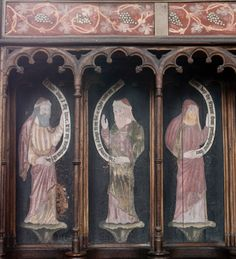 english church painted medieval woodwork - Google Search
