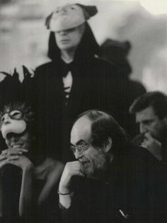 Stanley Kubrick on the set of 'Eyes Wide Shut', 1999 - Filming had to be worked around Kubrick's legendary 'fear of flying', so the entire film was shot in England. Sound stage works were done at London's Pinewood Studios, which included a detailed recreation of Greenwich Village.