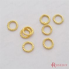 (29331)100PCS 10x1.5MM Gold Color Plated Zinc Alloy Twist closed Rings Diy Jewelry Findings Jewelry Accessories Wholesale
