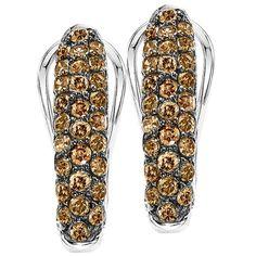 Warren Hannon Jeweler :: Silver Diamond Earrings | Silver Diamond Earrings 1 ctw