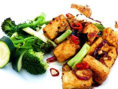 Crispy and sticky black pepper tofu