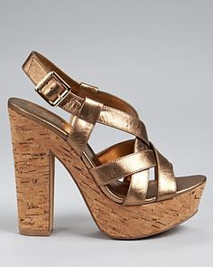 VINCE CAMUTO Duval Strappy Cork Sandals