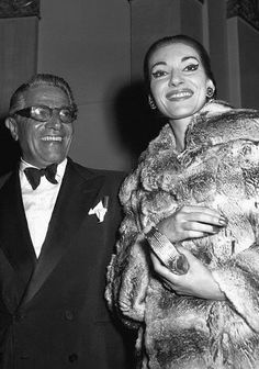 Maria Callas and Aristotle Onassis