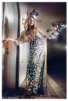 High Fashion Print Maxi Dress