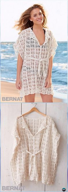 Crochet Easy Bernat Beach Cover-Up Free Pattern - Crochet Beach Cover Up Free Patterns