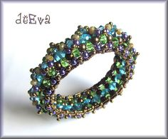 Kahleen  bracelet  beadwoven jewelry by deevadesign