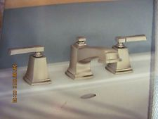"MOEN ""Boardwalk"" Widespread Bathroom Faucet-BRUSHED NICKEL"" 84820SRN NIB!"