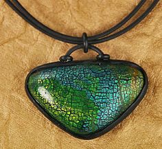 Kristie Foss Creations: Experiments with Metal Leaf & Alcohol Inks