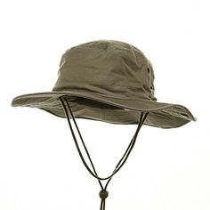 cc8dce7b587 Amazon.com  BRUSHED TWILL AUSSIE HAT WITH SIDE SNAPS AND CHIN CORD