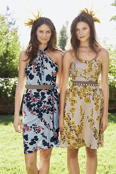 ah! LOVE these...nobody had chic florals when I was picking out my bridesmaids dresses
