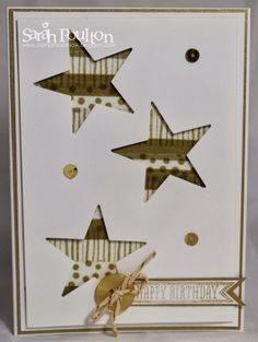 Stampin' Sarah!: Stampin' Up! All that glitters is.... Gold!