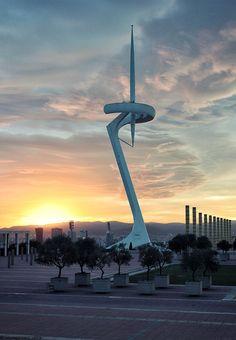 La tour de télécommunications de Montjuïc à Barcelone