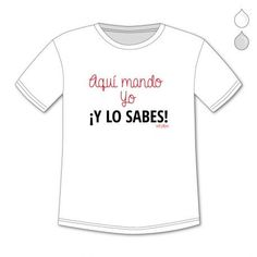 CAMISETAS PERSONALIZADAS NIÑ@S AQUÍ MANDO YO Y LO SABES