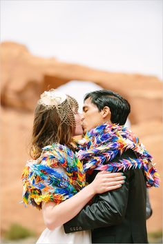 Free Spirited Wedding in Moab, Utah, with a ceremony at Arches National Park.