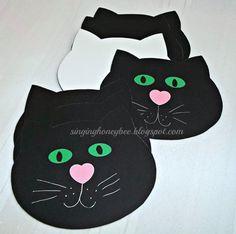 Kitty Cat Invites Kitty Cat Favor Tags Black Von Thesinginghoneybee