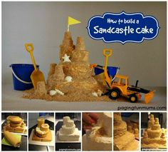 Sandcastle Cake Tutorial