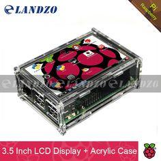 "3.5 inç ekran 3.5 ""Ahududu Pi için LCD TFT Dokunmatik Ekran 2/Raspberry Pi 3 Model B Kurulu + Akrilik Kılıf + Stylus"