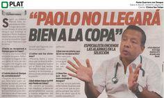 Clínica San Felipe: Caso de dengue en Paolo Guerrero en el diario El Bocón de Perú (14/04/15)