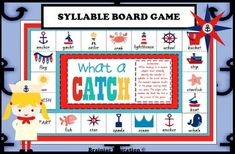 Throughout my teaching career I have found that when students are learning to break words into syllables, it is often the one and two syllable words that can be most difficult to master. This board game provides students with an opportunity to practice this skill in a fun and engaging way.
