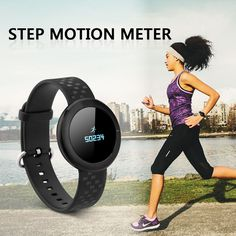 Bluetooth 4.0 Health Bracelet Watch Heart Rate Monitor Fitness Tracker Pedometer #Diggro