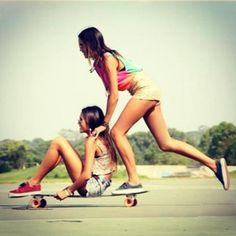 longboard, girlfriends, skateboarding, tomboy at heart