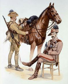 Australian Forces Anglo Boer War - Osprey Publishers. British Army Uniform, British Soldier, Military Art, Military History, Military Uniforms, Anzac Soldiers, World War One, British Colonial, Old Things