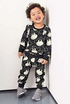 Buy Black and White Monkey All Over Print Skinny Fit Joggers from the Next UK online shop Baby Boy Fashion, Kids Fashion, Fitted Joggers, Kid Styles, Sewing For Kids, Uk Online, Latest Fashion For Women, Skinny Fit, Knitwear