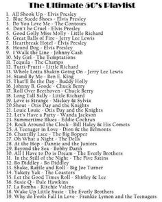 The Ultimate 50's Playlist