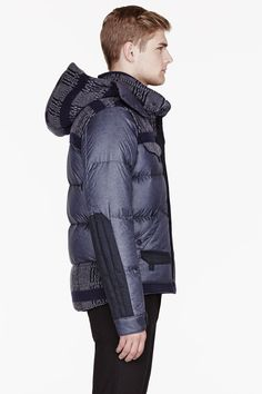 MONCLER Grey Patterned White Mountaineering Edition Reaper Jacket