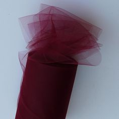 Wine Tulle Huge Roll - 100 Yd X 6 In Wine Tulle Spool - Tulle Roll Free Ship