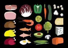 Logo Salad shop by Aline Houdé-Diebolt, via Behance