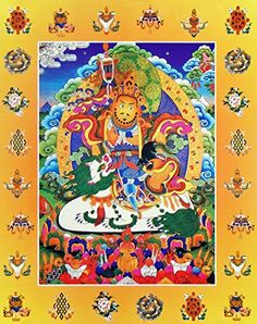 DollsofIndia Vaishravana  The Buddhist Lord of Wealth Riding Lion  Thangka Poster  11 x 9 inches  Unframed -- For more information, visit image link.