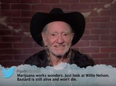 Willie Nelson from Celebrity Mean Tweets From Jimmy Kimmel Live!