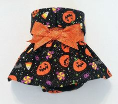 Female Dog Diaper Skirt Perfect for your dog in Season and House Training Glittery Pumpkins Bats and Candy by piddleronthewoof on Etsy Female Dog Diapers, Cute Dog Clothes, Dog Clothes Patterns, Halloween Disfraces, Chevron, Dog Leash, Cute Dogs, Your Dog, Girl Outfits