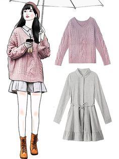 looks that i want to recreate in 2019 rou Cute Fashion, Girl Fashion, Fashion Dresses, Cute Korean Fashion, Kpop Fashion Outfits, Fashion Art, Fashion Tips, Mode Outfits, Korean Outfits