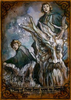 'Gentle creatures that I knew from nut and acorn.' 'Many of these trees were my friends! Tolkien Books, Jrr Tolkien, Hobbit Art, The Hobbit, Illustrations, Illustration Art, Lotr Swords, High Fantasy, Middle Earth