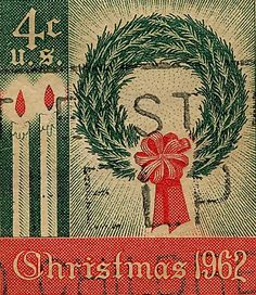 1962 Christmas Postage Stamp...
