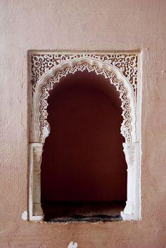 Arabic, art, arabesque, Malaga, Spain, España, Mauretania, mauretanian, lace, detail, architecture, wall, paint, building, castle,