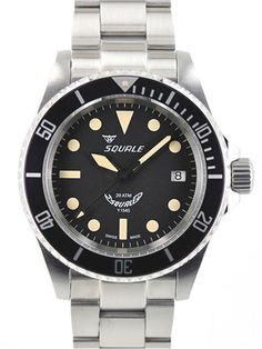 Squale 200 meter Maxi Swiss Automatic Dive watch with Domed Sapphire Crystal #1545-MI