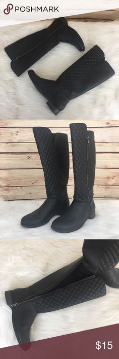 ✨ Charming Charlie black quilted boots ✨Newly listed items are priced to move.. please help me clear out my actual closet 😉  Preloved / Charming Charlie black quilted boots Size 7, fits true to size Silver hardware / side zipper closure  *Bottoms show some wear & there's toe scuffs *Comes without shoebox but will be packaged in a usps shipping box. Charming Charlie Shoes Winter & Rain Boots