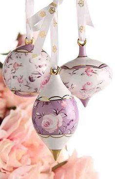 Royal Albert Rose Confetti Christmas Decoration - beautiful! :)