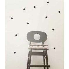 Mini Dots Muursticker Zwart
