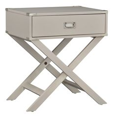 Dress up your living space with the smart style of the Weston Home 1 Drawer Accent Table with X Leg . This charming accent table offers a solid wood. Silver Nightstand, White Accent Table, Accent Tables, Accent Chairs, Campaign Furniture, Design Living Room, Modern End Tables, End Tables With Storage, Wood