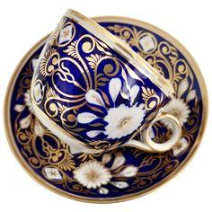 Antique Spode bute true trio, Cabbage patt stone china, A/F Porcelain Dinnerware, Porcelain Ceramics, British Tea Time, China Tea Sets, Fine Porcelain, Painted Porcelain, My Cup Of Tea, Cup And Saucer Set, Fine China