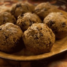 Bran Pumpkin Muffins - Moist, dark, spicy and sprinkled with sugar -- an excellent choice for holiday meals.