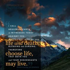 Image result for choose between life and death bible verse